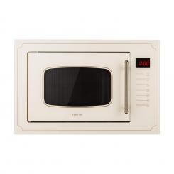 Victoria 25 Einbau-Mikrowelle, 25 l, 900 W, Grill: 1000 W, elfenbein Ivory