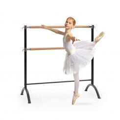 Barre Anna Doppel-Ballettstange, freistehend, 110 x 113 cm, 2 x 38mm Ø Schwarz | 110 cm