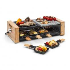 Chateaubriand Nuovo Raclette 1200W Aluminium / Stein 8 Personen Holz-Dekor
