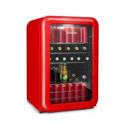 PopLife Getränkekühler Kühlschrank 115 Liter 0-10°C Retro-Design rot Rot   115_ltr