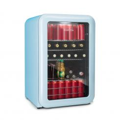 PopLife Getränkekühler Kühlschrank 115 Liter 0-10°C Retro-Design blau Blau   115_ltr