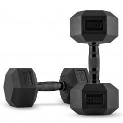 Hexbell Dumbbell Kurzhantel-Paar 2 x 27,5 kg schwarz