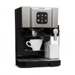 BellaVita Kaffeemaschine, 1450 W, 20 Bar, Milchschäumer, 3in1, grau Grau
