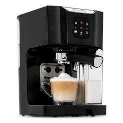 BellaVita Kaffeemaschine, 1450 W, 20 Bar, Milchschäumer, 3in1, schwarz Schwarz