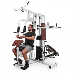 Ultimate Gym 9000 Fitness-Station, 7 Stationen, 100 kg, Gewichtsstapel Weiß