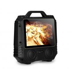 "CenterStage 4 mobiler Karaoke-Lautsprecher, 30 W, 14,1"" Display, Funk-Mikro Schwarz | speaker_size_2x4_inch"