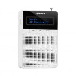 DigiPlug FM Steckdosen-Radio, UKW/PLL, BT, LCD-Display, weiß Weiß