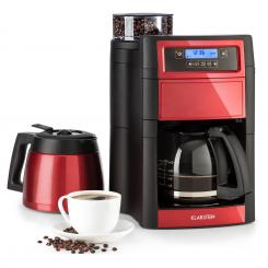 Aromatica II Duo Kaffeemaschine, integriertesMahlwerk, 1,25 l, rot Rot | Glas- & Thermoskanne