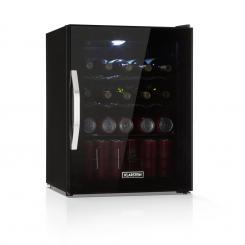 Beersafe XL Onyx Getränkekühlschrank A++ LED 4 Metallroste Glastür schwarz 60 Ltr