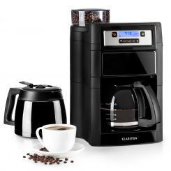Aromatica II Set Kaffeemaschine, Mahlwerk, 1,25 l, schwarz Schwarz | Glas- & Thermoskanne