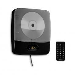 Vertiplay CD-Player Bluetooth Nachtlicht UKW-Radio AUX Digitaluhr schwarz Schwarz
