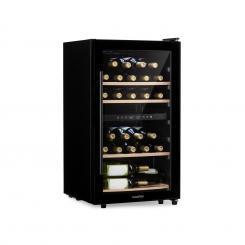Barossa 29D Weinkühlschrank 2 Zonen 29 Flaschen Glastür Touch LED schwarz 34 Flaschen