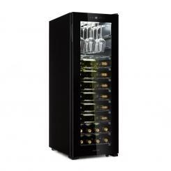 Bellevin 62 Weinkühlschrank 56 Flaschen 5-20°C Energieklasse A schwarz