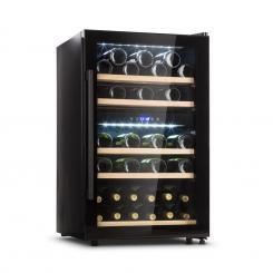 Barossa 40D Weinkühlschrank 2 Zonen 135 L 41 Flaschen Glastür Touch LED schwarz 135 Ltr