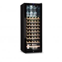 Barossa 54D Weinkühlschrank 2 Zonen 148 L 54 Flaschen Glastür Touch LED schwarz 148 Ltr