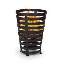 Verus Feuerkorb aus Stahl stabiler Stand robust schwarz