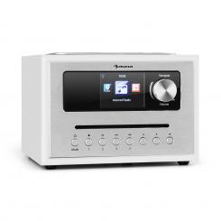 Silver Star CD Cube Radio Bluetooth HCC Display weiß Weiß