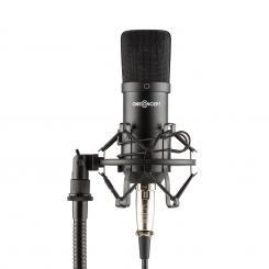 Mic-700 Studio-Mikrofon Ø34mm Uni Spinne Windschutz XLR schwarz Schwarz