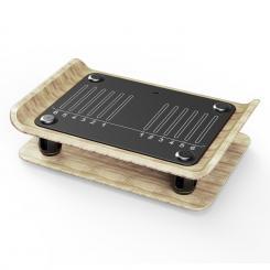 Roomik Shake Vibrationsplatte 15-55Hz zertifizierte Birke Fernbedienung Roomik Shake (Vibrationsplatte)