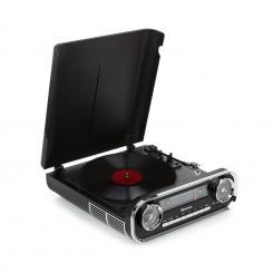 Challenger LP Plattenspieler Bluetooth UKW-Radio USB schwarz Schwarz