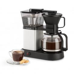 GrandeGusto Kaffeemaschine 1690W 1,3l Pre-Infusion 96°C schwarz/metallic Metallic