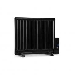 Wallander Ölradiator 600W Thermostat Ölheizung ultraflach schwarz Schwarz | 600 W