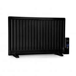 Wallander Ölradiator 800W Thermostat Ölheizung ultraflach schwarz Schwarz | 800 W