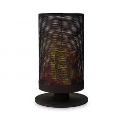 Ithaka Feuerschale Feuerkob aus Stahl stabiler Stand schwarz