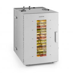 Master Chef 16 Dörrautomat 1500W 40-90 °C 15h-Timer Edelstahl 16 Etagen