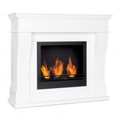 Phantasma Cottage Pillar Ethanol-Kamin rauchfrei Edelstahl-Brenner 3 x 300ml 2h Edelstahl weiß / schwarz