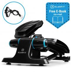Galaxy Step Ministepper Premium-Trittflächen LCD-Display schwarz/blau Black_blue