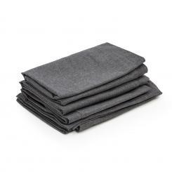 Titania Dining Set Polsterbezüge 10 Teile 100% Polyester wasserabweisend dunkelgrau meliert Dunkelgrauu