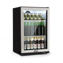 Beersafe Pro Kühlschrank 133 L Glastür 2 Einlegeböden schwarz