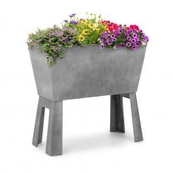 Mammutgrow Flex Hochbeet 75 x 70 x 35 cm UV- und Frostschutz grau Grau