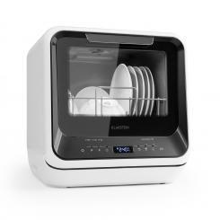 Amazonia Mini Geschirrspülmaschine 6 Programme LED-Display schwarz Schwarz