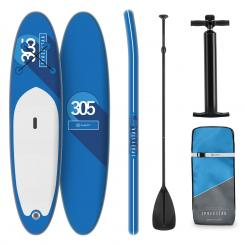 Spreestar aufblasbares Paddelboard SUP-Board-Set 305x10x77 blau Blau