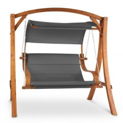 Maui Hollywoodschaukel 110 cm 2-Sitzer Massivholz Polyester dunkelgrau Grau
