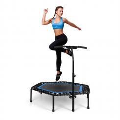"""Jumpanatic Pro Fitness-Trampolin 50"""" / 127 cm Ø Griffstange blau Blau"""