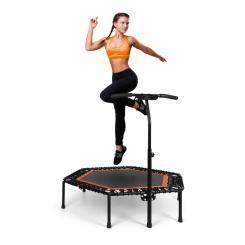 "Jumpanatic Pro Fitness-Trampolin 50"" / 127 cm Ø Griffstange orange Orange"