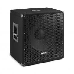 """SMWBA18 Aktiver 18"""" PA-Subwoofer 1.000 W max. BT MP3 Flansch-Anschluss 1000 W"""