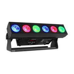 BBB612 Battery Bar 6x12W 6in1 RGBAW-UV LEDs 55W schwarz