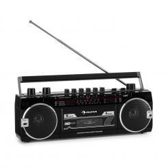 Duke MKII Kassettenrekorder Radio BT USB SD-Slot Teleskopantenne schwarz Schwarz