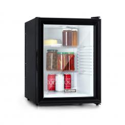 Brooklyn 42 Kühlschrank EEC A Kunststoff-Einsatz Glastür weißer Innenraum schwarz Schwarz/weiß | 42 Ltr