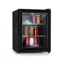 Brooklyn 42 Kühlschrank EEC A Kunststoff-Einsatz Glastür schwarzer Innenraum schwarz Schwarz | 42 Ltr