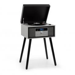 Mary Ann Plattenspieler 33/45/78 U/min CD DAB+ UKW BT USB schwarz/grau Mit DAB+ und UKW-Radio