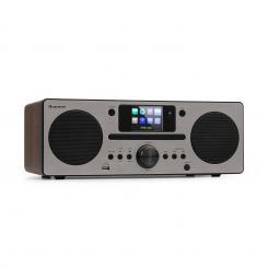 Harvard Kompaktanlage Internet-/DAB+/UKW-Radio CD-Player Bluetooth walnuss Walnuss