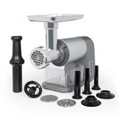 Mett Max elektrischer Fleischwolf 600 W Kupfermotor Hack Wurst Kebbe Aluminium grau/silber
