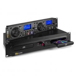 "PDX350 Dualer DJ-CD/USB-Player-Controller CD/USB/MP3 Anti-Shock 19""-Rack schwarz"