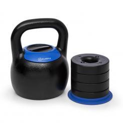 Adjustabell Verstellbare Kettlebell 16/18/20/22/24 kg schwarz / blau Von 16 bis 24 kg