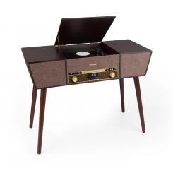 Belle Epoque 1912 Retro-Plattenspieler CD BT USB DAB+/UKW braun